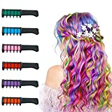 (6 Colors)New! Halloween Gifts for Kids Hair Chalk for Girls Temporary Washable Hair Color Makeup Birthday Cosplay Halloween Party Favors
