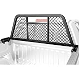 AA-Racks Model HX-501 Extendable Steel Pickup Truck Headache Rack, Sandy Black
