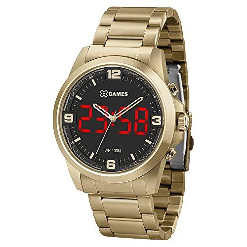 Relógio X Games Masculino Ref: Xmgsa007 P2kx LED Dourado