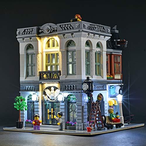 TETAKE Licht Beleuchtung Bunt LED Beleuchtungsset für Lego Steine Bank - 10251 (Nicht Enthalten Lego Modell)