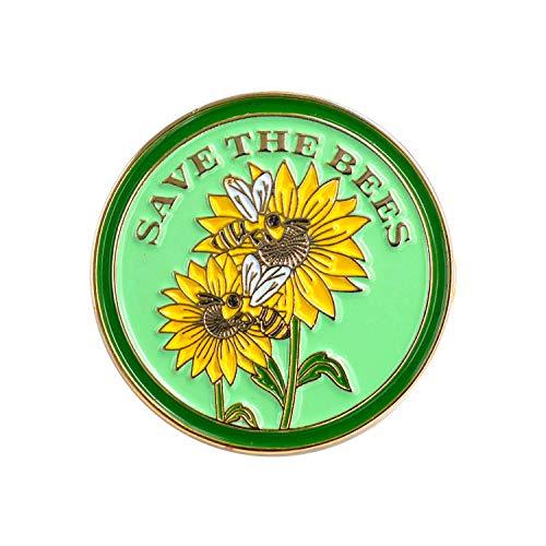 Bienennadel, Bienennadel, Rettet die Bienen, Bienenschutz, Emaille-Nadel