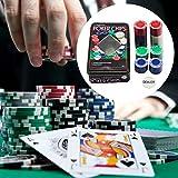 iYoung Nuovo Set di fiches Set di fiches da Poker per Texas Holdem Blackjack Games Cards P...