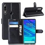 GGQQ YDYX AYDD Litchi Skin PU en Cuir Portefeuille Porte-Monnaie Mobile pour Huawei P Smart Z (Noir)...