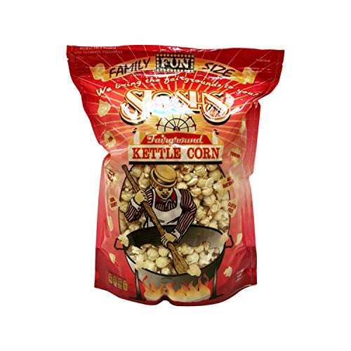 Stosh's Fairground Kettle Corn - All Natural Gourmet Handmade Sweet & Salty Kettle Corn Popcorn with Resealable Self-Standing Bag (14oz 1 Bag)