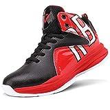 Zapatos de Baloncesto Hombre Alto para Ayudar a los Zapatos Deportivos Zapatillas para Niños(Rojo 2,44EU)