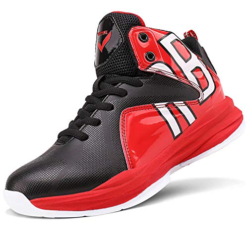 ASHION Jungen Basketballschuhe Kinder Sneaker Sportschuhe Jungen Turnschuhe Laufschuhe Outdoorschuhe(B Rot,33EU)