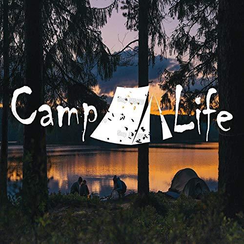 JXFM Camp Leven stickers en tenten kleuterschool kinderkamer decoratie creatieve vinyl stickers kamer afneembaar knutselen decoratie van het huis S495 96 x 20 cm