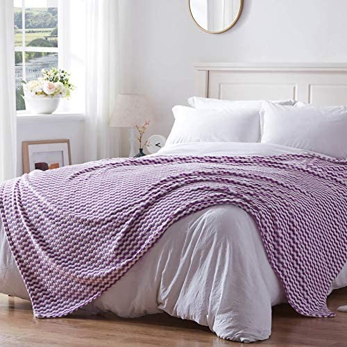 NexHome Flannel Fleece Blanket King Size Lightweight Super Soft Cozy Cationic Dyeing Blanket product image