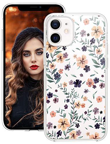 DIMIYER Custodia compatibile con iPhone 12 da 6,1 pollici, 5G, Crystal Clear Morbido TPU Bumper Custodia Protettiva antiurto antiurto Case per iPhone 12 6.1 pollici 5G Cover Femmina