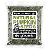 Gorilla Food Co. Pumpkin Seeds Raw Pepitas Shelled (No Shell) Unsalted - 1 Pound Resealable Bag
