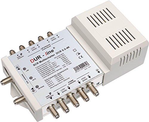 DUR-line DCR 5 SCR-schakelaar-serie - eenmalig gebruik voor 8 SCR-deelnemers + 4 legacy-uitgangen - 2X test zeer goed