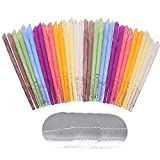 32PCS Ohrkerzen, Ohrenkerzen,Ohrenschmalzkerze, Ohrkegelkerze, Ohrenschmalzentfernung, ungiftige organische Gasflasche, Parfümhohlkegelkerze mit 16 Schutzscheiben (8 Farben)