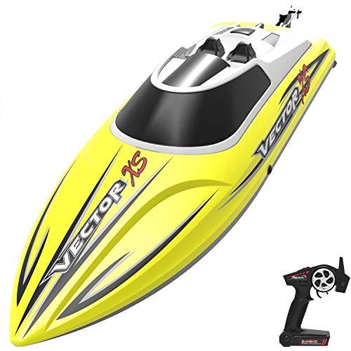 KRCT 20mph ad Alta velocità a Distanza della Barca di Controllo con Auto-raddrizzamento Caratteristica Professionale Concorso 2.4GHz RC Motoscafo Elettrico Ricaricabile Toy Yacht for Bambini e Adulti