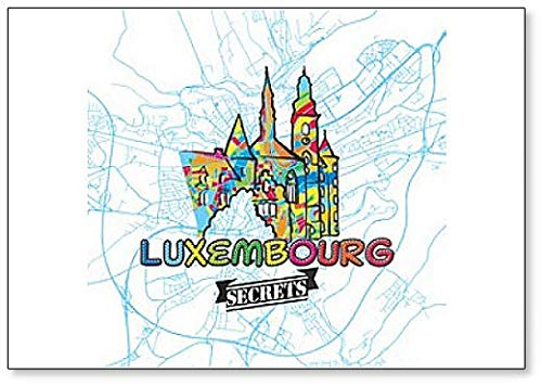 Luxembourg Travel Art Map Classic Koelkast Magneet