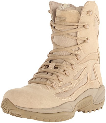Reebok Work Men's Rapid Response RB8895 Security Friendly ,100% Non metallic Boot,Desert Tan,11 M US