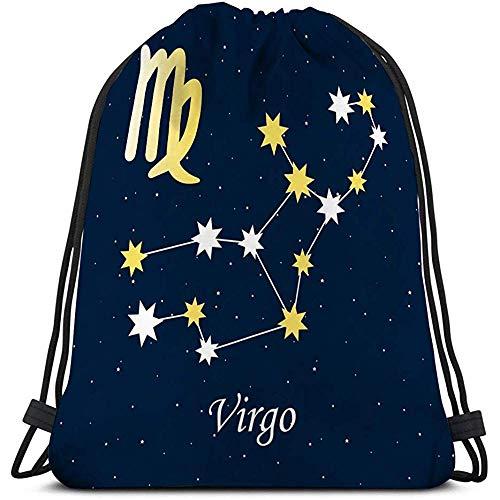 BOUIA Turnhalle Sport Kordelzug Sternbild Jungfrau Sternzeichen Horoskop Astrologie Sterne Nacht Illus