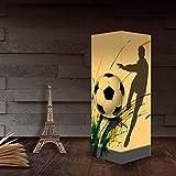 3D Fußball Papier Schattenlampe, USB & 3AAA batteriebetriebener Berührungsschalter LED...