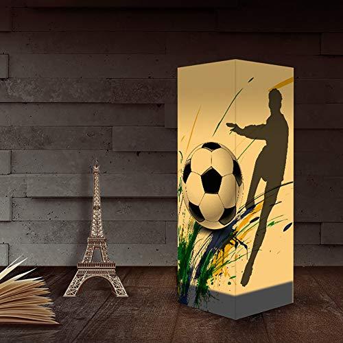 3D Fußball Papier Schattenlampe, USB & 3AAA batteriebetriebener Berührungsschalter LED Schreibtisch-Nachtlicht für Kinderschlafzimmer, Wohnzimmer, Café, Bücherschrank