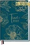 Chäff-Timer Mini Kalender 2021/2022 A6 [Goldblüte] Terminplaner, Terminkalender für 18 Monate: Juli 2021 bis Dez. 2022 | Wochenkalender, Organizer mit Wochenplaner | nachhaltig & klimaneutral