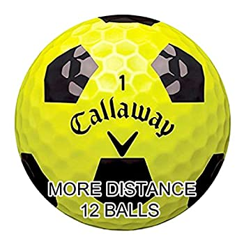 New Callaway Chrome Soft Golf Balls with Truvis Technology - Made in USA   12 Pack  Choose your Color  Color - Truvis Black on Yellow