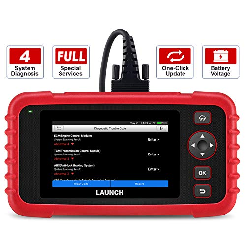 """LAUNCH OBD2 Scanner CRP123X Code Reader for ABS SRS Engine Transmission Diagnostic Tool, 5.0"""" Touchscreen Android 7.0-Based Wi-Fi One-Click Lifetime Free Update Scan Tool, Upgraded Version of CRP123"""