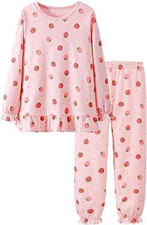 Pijama para Niñas de Bonito,de Manga Larga,100% Algodón,Ropa de Dormir,Camisetas y Pantalones