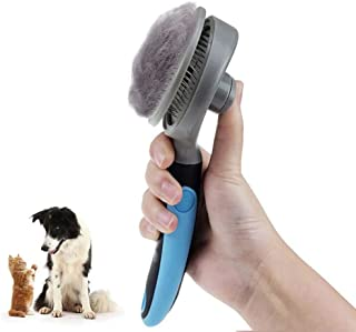 Povinmos Self Cleaning Slicker Brush, Pet Grooming Brush, Reduces Shedding Deshedding Tool for Dogs and Cats