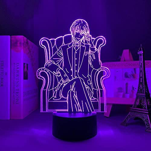 Luz noturna para meninas meninos luz noturna anime lâmpada de iluminação mangá Moriarty The Patriot William James Moriarty para decoração de quarto presente Moriarty The Patriot lâmpada de controle remoto