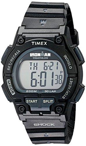 Timex Ironman S - Reloj Unisex de Cuarzo, Correa de Goma Color Negro (con Alarma, Cuenta Vueltas, luz, cronómetro)
