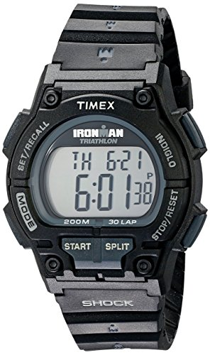 Timex Men's T5K196 Ironman Endure 30 Shock Full-Size Black Resin Strap Watch