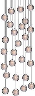 H.W.S LED Lámpara colgante de cristal de cristal Lámpara de araña Lámpara decorativa moderna para escaleras de villa Sala ...