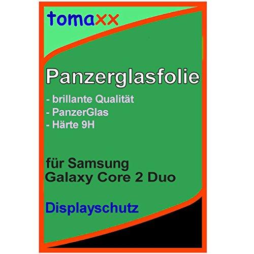 tomaxx Glas für Samsung Galaxy Core 2 Duos Glas Glasfolie 9H Panzerglas Panzerglasfolie Schutzfolie