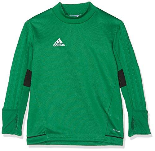 adidas Kinder Tiro 17 Training Langarm Shirt, Green/Black/White, 128