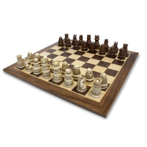 WE Games Fancy Medieval Themed Chess Set - 15 in.