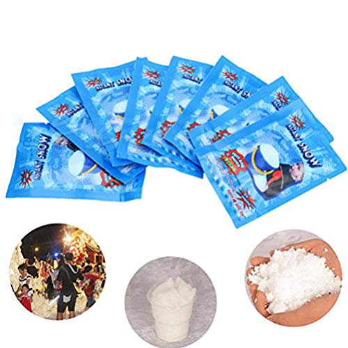 DatingDay 10Pcs 9g SAP Magic Instant Fake Fluffy Snow Super Absorbant Christmas Wedding Decor (White)