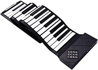TOOYU Electric Roll Up Piano, Portable Foldable 88 Keys Flexible Soft Silicone Electronic Music Keyboard Piano, Battery Or...