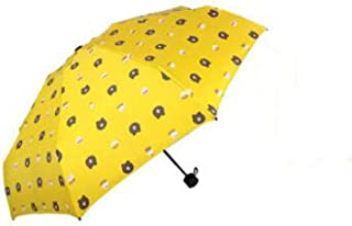 Automatic Folding Umbrella, Sunshade, Bear, Easy to Carry One-Button Open Suitable for Both Men and Women ,with Ergonomic Handle