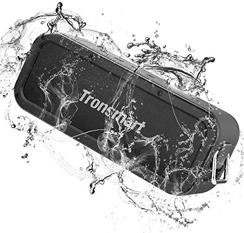 Tronsmart Force Haut-Parleur Bluetooth 40W, Enceinte Bluetooth Extérieur sans Fil Speakers Waterproof Portable, étanche IPX7, Autonomie 15H, NFC,Étanche Subwoofer,Son Stéréo et Basses