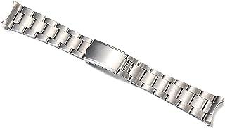 ZXF Bracelet de Montre, Montre en Acier Inoxydable Solide de 18mm 19mm 20mm avec Bracelet Bracelet (Band Width : 19mm)
