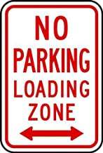 ZING 2279 Eco Parking Sign, No Parking Loading Zone, 18Hx12W, Engineer Grade Prismatic, Recycled Aluminum
