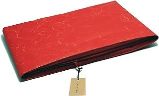 「SIWA・紙和」和紙のクッションケース M (レッド)