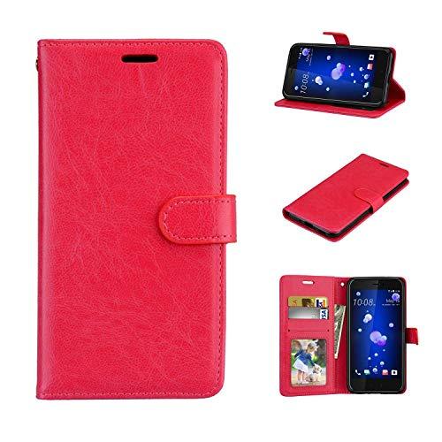 Funda Xiaomi Mi4C / Mi4i - Premium Negocios Funda de Cuero Billetera Clamshell Case Cover para Xiaomi Mi4C / Mi4i [Rojo]
