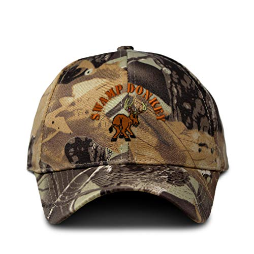 Speedy Pros Camo Baseball Cap Swamp Donkey Embroidery Cotton Hunting Dad Hats for Men & Women Strap Closure Forest Tree Khaki