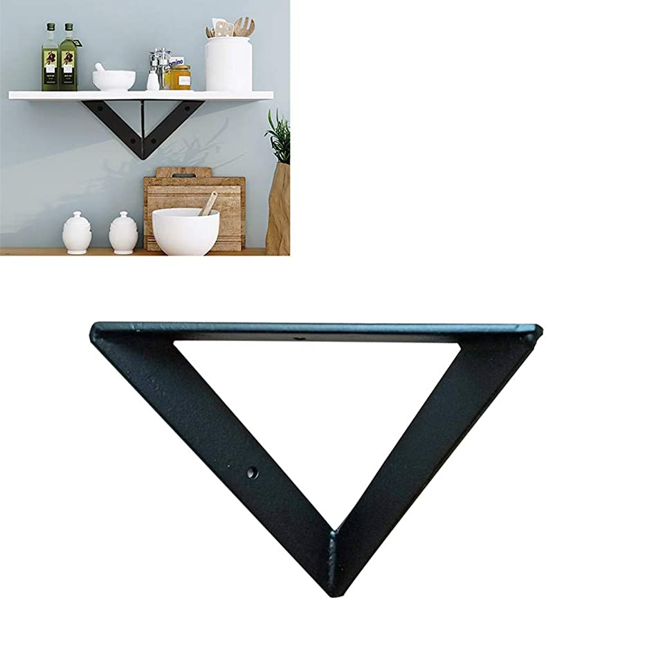 Shelf bracket Black Heavy Duty Right Angle Bracket ,Wall-Mounted Floating Shelves Bracket Suitable for The Workbench,Without Wooden Board