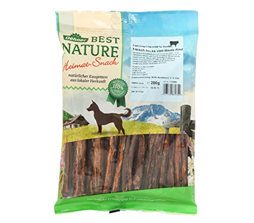 Dehner Best Nature Hundesnack, Rindfleisch Sticks, 200 g