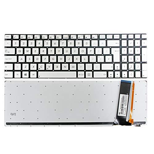 Zahara - Teclado retroiluminado para ordenador portátil ASUS R750 R750JK R750JV R552LF R552JK R552JV R552J