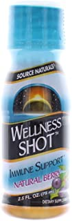 Source Naturals, Wellness Shot Immune Support Natural Berry, 2.5 Fl Oz