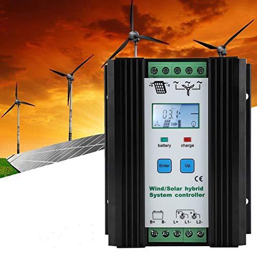 12V 200W/300W 30A Hybrid Solar Wind Charge Controller Solarladeregler PMW Laderegler Windladeregler Solar Ladegerät Controller mit LCD Display und Lastausgang