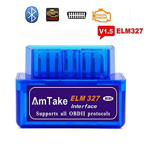 ELM327 BLUETOOTH OBD2スキャンツール v1.5 自動車 故障診断機 mini obd2スキャナー 日本語マニュアル 設置簡単車両のECU情報をアプリでチェック *iPhoneは対応できません