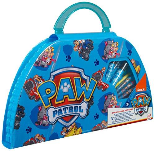 PAW PATROL Estuche Pinturas para Niños, Maletin Pinturas con Material Escolar, Incluye Acuarelas Niños Rotuladores y Ceras de Colores, Regalos Creativos para Niños y Niñas 3+